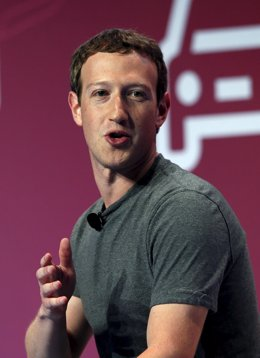 Mark Zuckerberg en una conferencia en Barcelona
