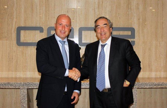 Juan Rosell (CEOE) y Juan Manuel Gutiérrez Alcubilla (Axactor)