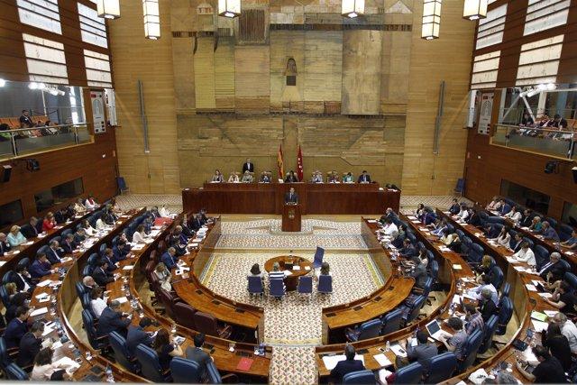 Sesión de investidura de Cistina Cifuentes en la Asamblea de Madrid