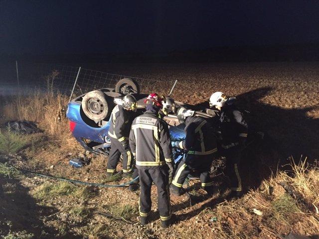 Vehículo implicado en el accidente de Campo Real