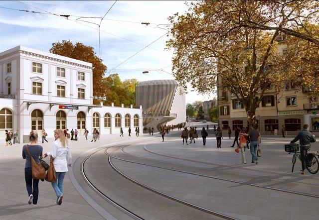 calatrava proyecta en zrich un edificio de oficinas con un parking para bicis