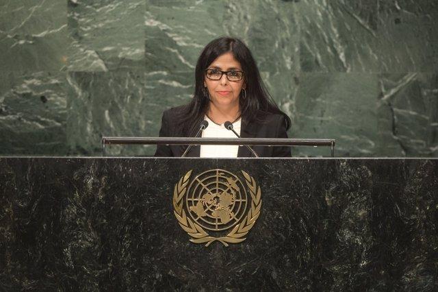Delcy Rodríguez en la Asamblea General de la ONU