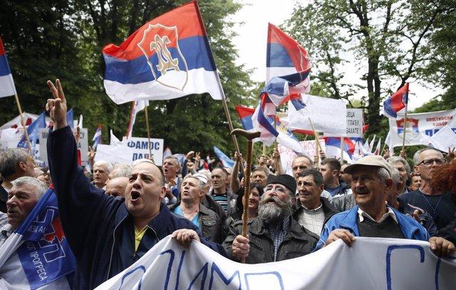 Manifestación en Banja Luka