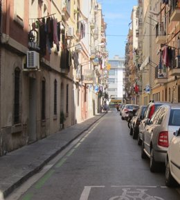 Calle del barrio de la Barceloneta