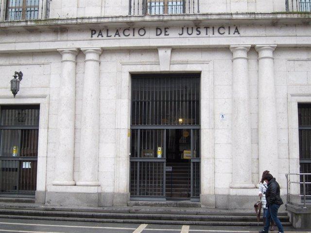 Fachada de la Audiencia de Valladolid,e escenario del juicio.