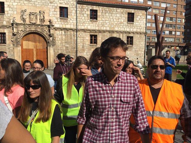 Iñigo Errejón en Burgos.