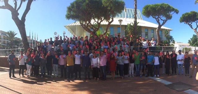 Juventudes Socialistas en en la IV escuela en Punta Umbría
