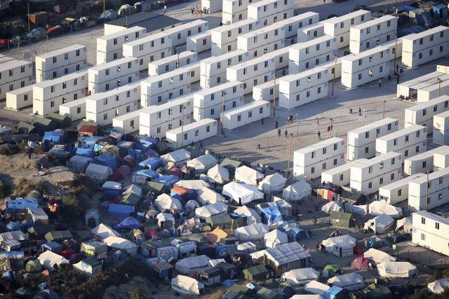 Vista aérea de la 'Jungla de Calais'