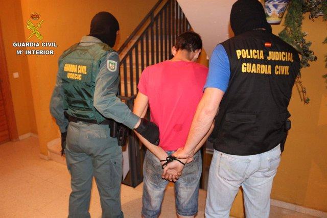 Detención realizada por la Guardia Civil de Huelva