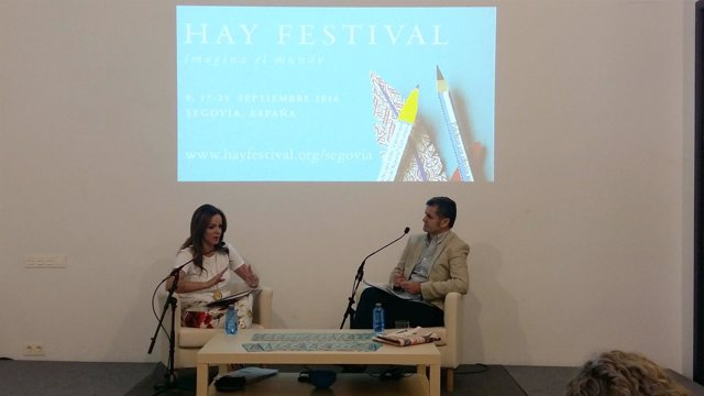 Clemente, en el Hay Festival de Segovia.