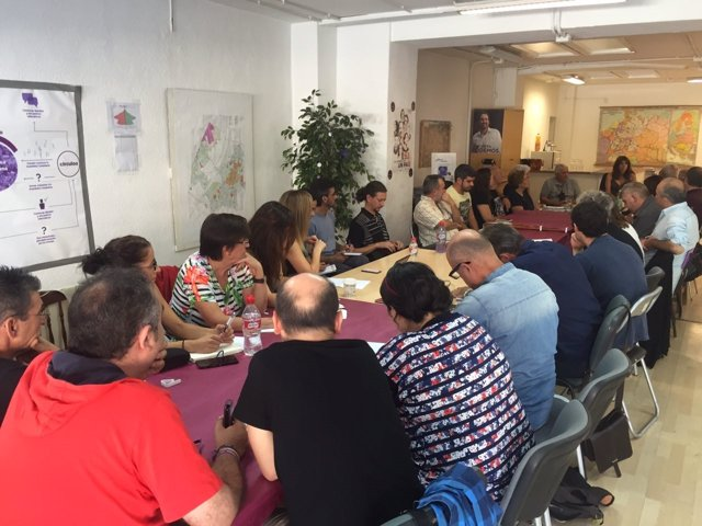 Reunión de Podemos en Granada