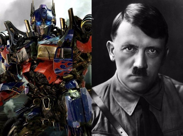 Optimus Prime en la saga 'Transformers' y Adolf Hitler