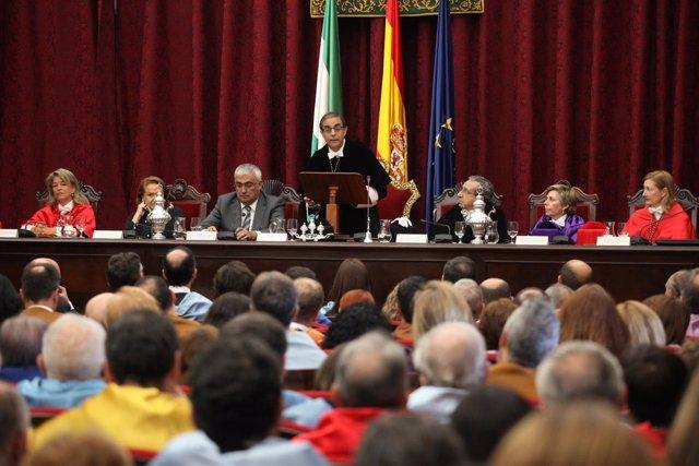 Acto de apertura del curso de la Universidad de Sevilla 2016-17