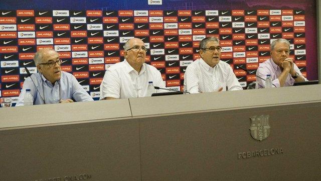 Balonmano veteranos Barcelona 'Quico' López Balcells Doménech Portabella Morillo