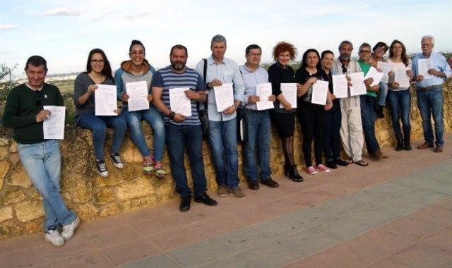 Concejales de IU en Aljaraque (Huelva)