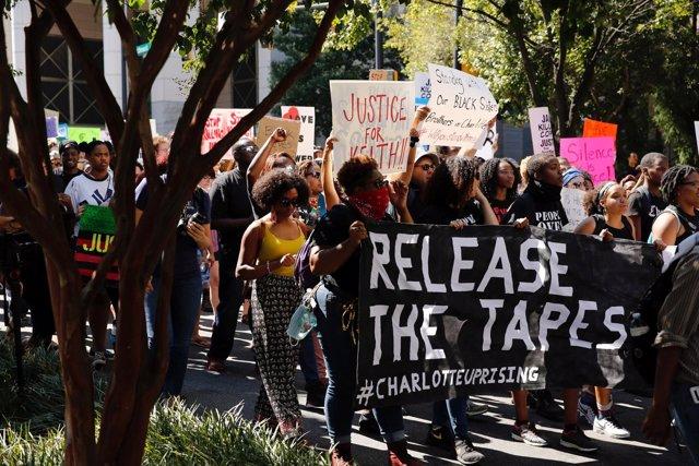 Manifestación en Charlotte, Carolina del Norte
