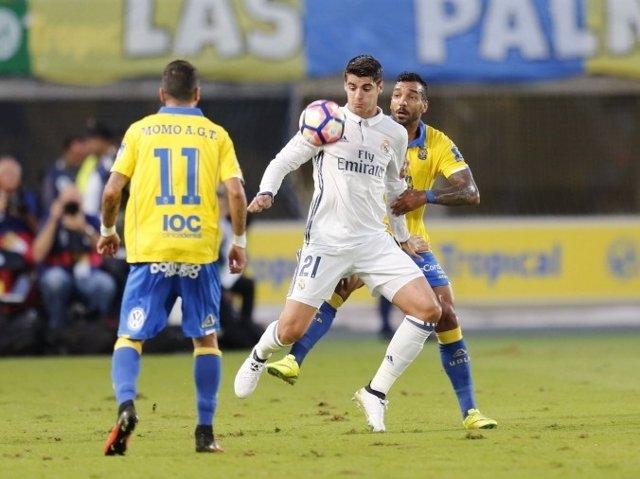 Álvaro Morata en el partido ante Las Palmas