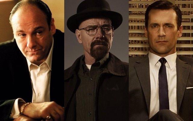Tony Soprano, Walter White y Don Draper