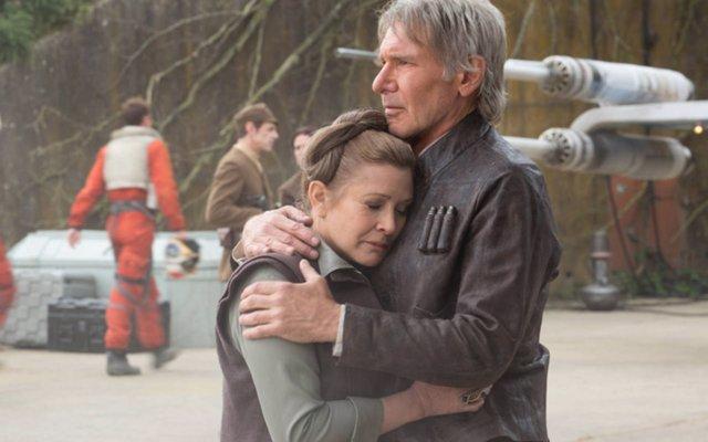 Han Solo y Leia