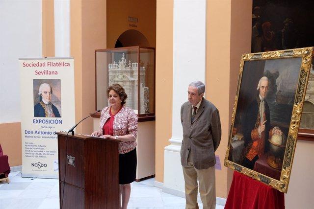 Castreño presenta la exposición de la Sociedad Filatélica Sevillana