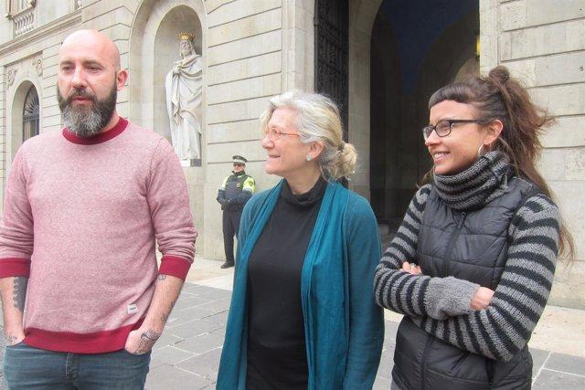 Josep Garganté, Maria José Lecha y Maria Rovira, CUP