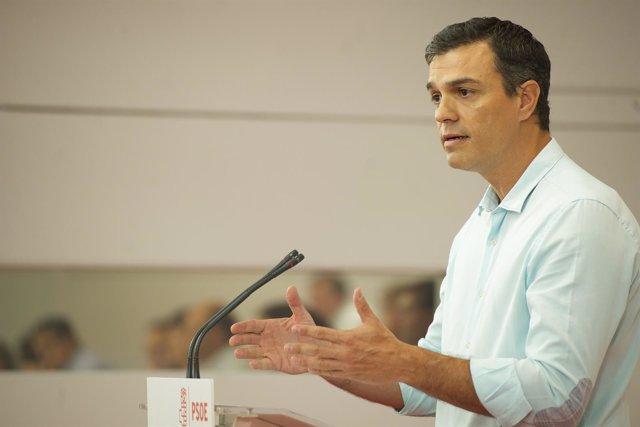 Pedro Sánchez ante el Comité Federal de su partido
