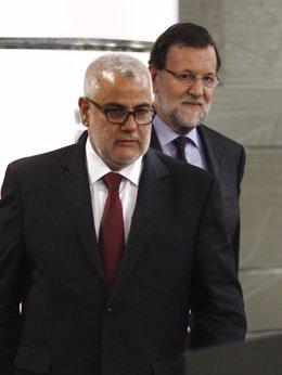Rajoy y Abdelilah Benkirán.