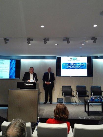 Aeban premia a César Bardají y Keiretsu Forum por su labor de 'ángeles inversores'