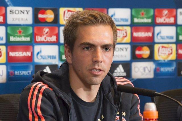 Philipp Lahm, Rueda de Prensa, Atlético de Madrid-Bayern de Múnich