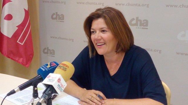 La secretaria general de CHA y diputada en las Cortes de Aragón, Carmen Martínez