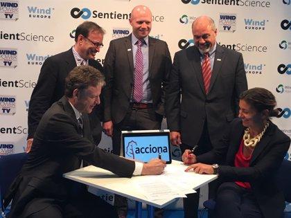 Acciona firma un acuerdo con la estadounidense Sentient para prolongar la vida útil de sus turbinas