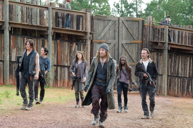 El grupo de Rick Grimes en la colonia Hilltop (6ª temporada de The Walking Dead
