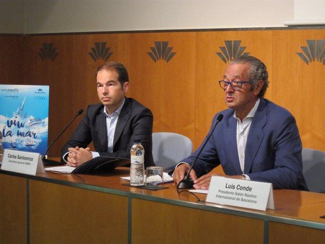 Carlos Sanlorenzo (secr..ANEN) Luis Conde (pte.Salón Náutico Fira de Barcelona)