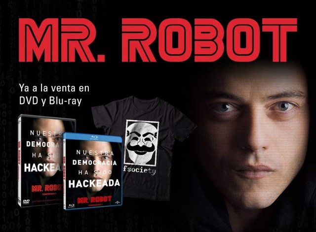 Pack DVD y Blu-ray de la 1ª temporada de Mr. Robot