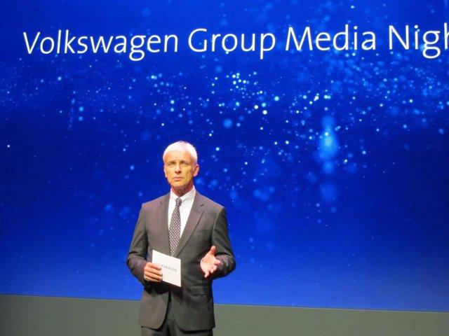 El presidente del Grupo Volkswagen, Matthias Müller