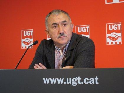 """Álvarez (UGT) dice que si él fuera González """"no opinaría"""" y desea que el PSOE vuelva a ser un partido unido"""