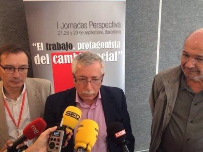 """Fernández Toxo: """"Lo que se ha desatado en el PSOE suena a cacería"""""""