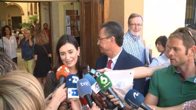 Carmen Montón en un acto en Manises (Valencia)