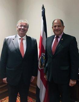 Jordi Cornet con el pte. De la República de Costa Rica, Luis Guillermo Solís