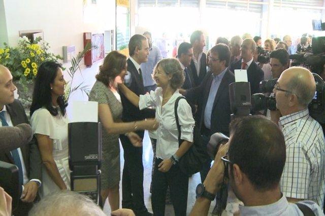 Vara y Tejerina inauguran la Feria Ganadera de Zafra