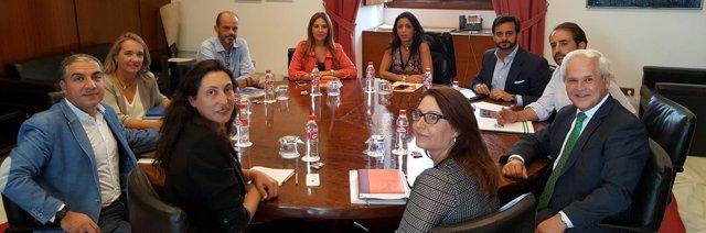 Reunión entre representantes de PP-A y Ciudadanos este jueves en el Parlamento