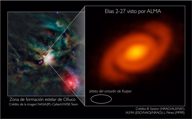 Elias 2-27 y su posición en la zona de formación estelar de Ofiuco