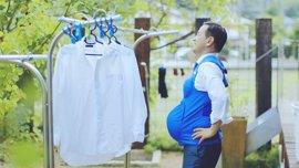 Chalecos de embarazo para concienciar sobre el reparto de las labores domésticas en Japón