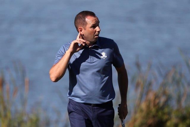 Sergio García en la Ryder Cup