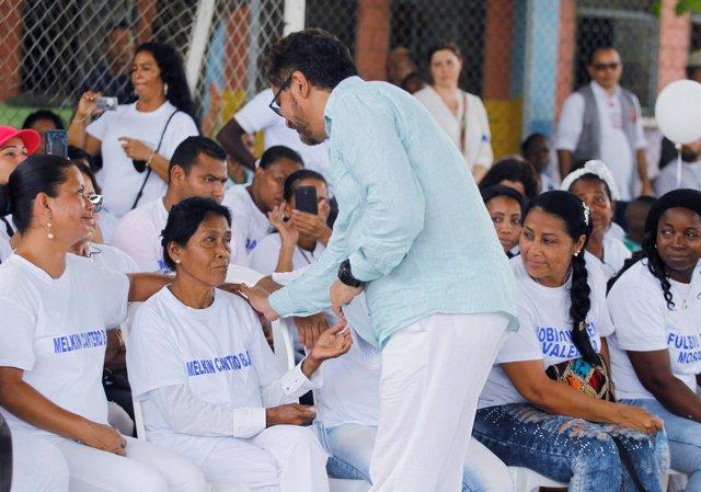 Visita de las FARC a La Chinita