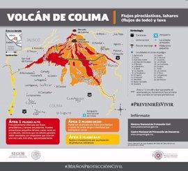 México evacua a las comunidades próximas al volcán Colima debido a su actividad