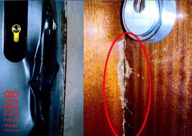 Cinco detenidos acusados de intentar robar en viviendas de Villava.