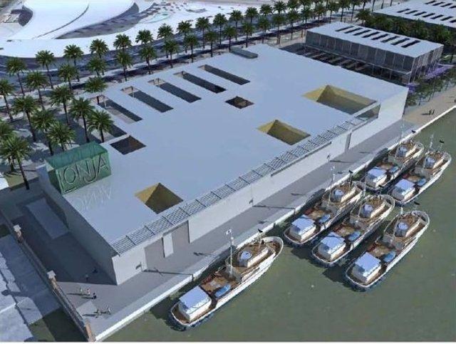 Futura lonja del puerto de Huelva.