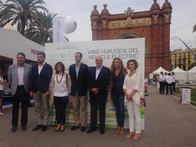 Jordi Baiget, Ramon Caus, Mercedes Vidal, Valentí Junyent y Miquel Darnés