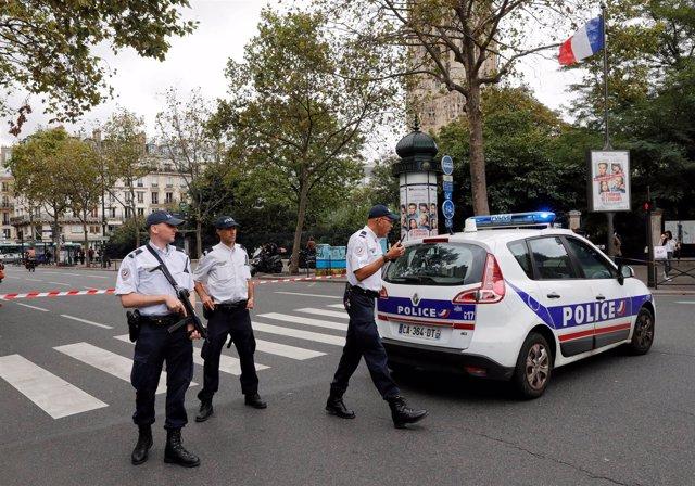 La Policía francesa asegura la zona del incidente